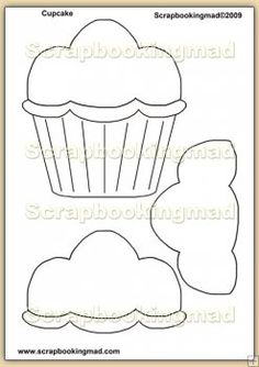 Birthday Cupcake Template Overlay PDF Sheet