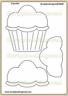 Birthday Cupcake Template Overlay PDF Sheet