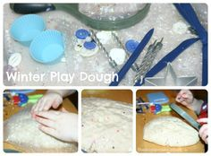 Winter play dough (with free downloadable play mats)