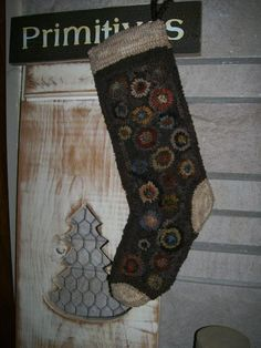 This is my hooked rug stocking pattern. They use stockings year around for prim decorating.  You can fill them with drieds, etc...    http://www.ebay.com/itm/120836454872?ssPageName=STRK:MESELX:IT&_trksid=p3984.m1555.l2649