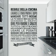 ... cucina more frasi cucina frases italiano adesivi murali murali frasi