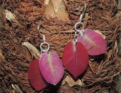 Dried Bougainvillea jewelry Burgundy by AmazoniaAccessories, €10.00