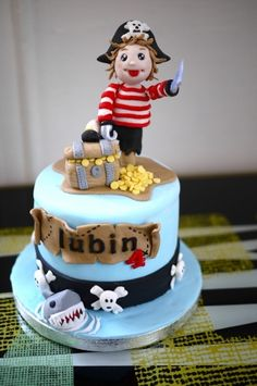 Anniversaire Theme Pirate On Pinterest Pirate Cakes Pirate Birth