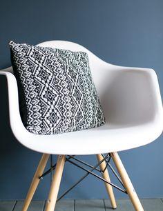 Fair Isle Knitted Cushion