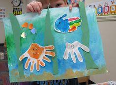 handprint craft - aquarium
