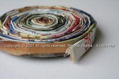 magazine bowl - tutorial