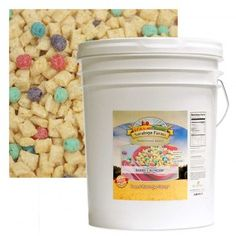 5-gallons of cereal that can last for 20 years on the shelf! Great for families that go through tons of cereal!