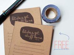 BSaz Creates | To Do List Printable Freebie | Tina Fey Quote