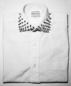 spike a little bit of style to wear stud collar, studs, spike, dress shirts, fashion, london, style, white shirts, collars
