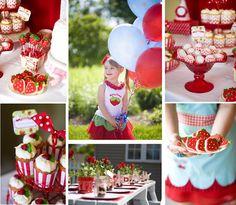 Vintage Strawberries Birthday Party