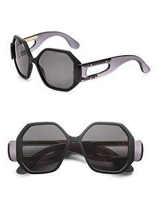Balenciaga - Oversized Square Plastic Sunglasses #SaksLLTrip