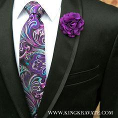 Necktie - Purple Rain  WWW.KINGKRAVATE.COM