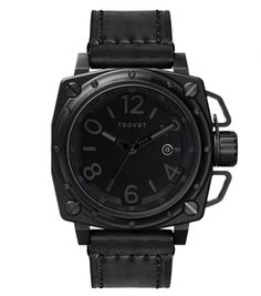 Tsovet draws inspiration from the durability and precision, as well as styling and functionality, of vintage industrial gauges and avionic instrumentation. avion instrument, timepiec watchluv, black watch, svtax87 metal, style, men fashion, svtax87classicblack timepiec, tsovet seri, tsovet svtax87