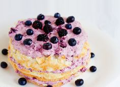 Angel Food Cake with Berries.