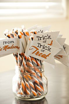 halloween treats...cute and easy favor for any party