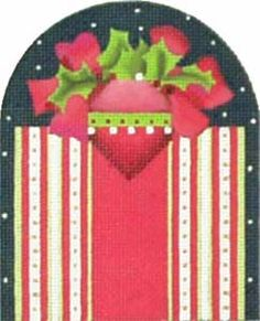 Melissa Shirley Designs | Hand Painted Needlepoint | Pink Poinsettia Gift Box
