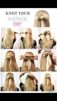Really cute and easy hair style