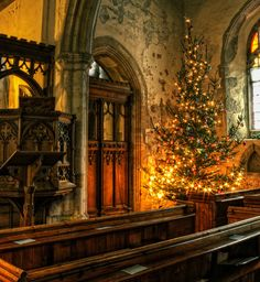 This beautiful, cozy, rustic interior is inside St. Michael's, Hernhill in the English southern county of Kent.