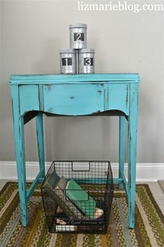 vintage sewing table redo......