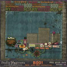 Scrapbooking TammyTags -- TT - Designer - Studio Blagovesta, TT- Item - Quick Page, TT - Theme - Halloween