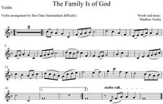 """Family is of God"" violin accompaniment. Would be great from sacrament program."