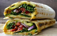 Grilled Zucchini Hummus Wrap -- I would sub grind-free wraps