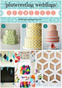 Geometric Wedding Inspiration via weddings.craftgossip.com