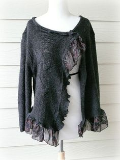 medium  large / Urban Chic Sweater /  Recycled by DressMeLoveLee