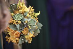 Love succulents and billy balls.  Great arrangement!