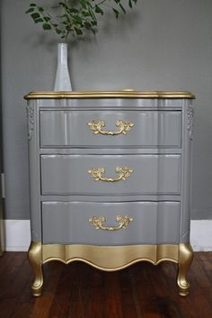 Gold Detail French Provincial Set by HayleonVintage on Etsy, $800.00