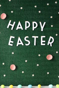 DIY grassy Easter backdrop