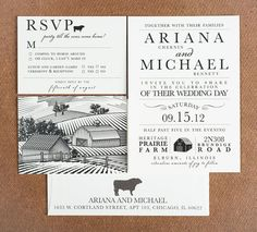 Wedding Invitation - Party Till The Cows Come Home