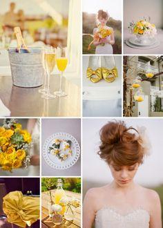 spring yellow wedding theme idea