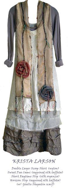 vintage layered dress
