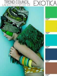 summer 14 Trend Council runway fashion, colors, fashion prints, fashion editorials, wedding color schemes, colour palettes, tribal prints, summer trends, color trends