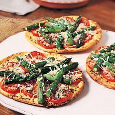 Asparagus-Parmesan Pita Rounds | MyRecipes.com
