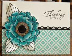 papercraft card, flower