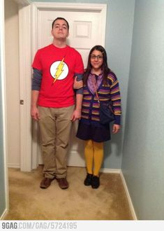 Sheldon and Amy! Best Halloween costume ever!