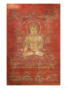 A Tibetan Thang.Ka Depicting Ratnashambhava, Early 14th Century