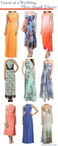 What to Wear to a Wedding   Floor-Length Dresses #weddingattire #weddingdresscode #weddingseason