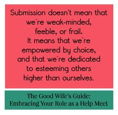 The Good Wife's Guide - Embracing Your Role as a Help Meet