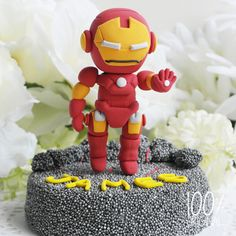Iron Man Cake Topper cake decor, birthday cake, cake toppers
