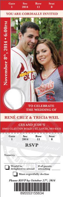Send us your photos, we custom design an incredibly unique wedding invitation ... #baseballwedding #stwdotcom