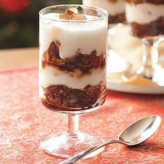 Gingerbread Granola-Yogurt Parfaits- 18 Delicious Recipes for Christmas Family Breakfast