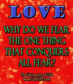 Love conquers all fear on Lisa Loves Life Lessons