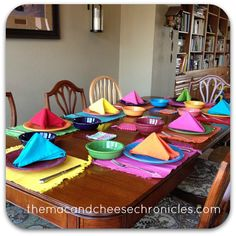 Table set with Fiestaware