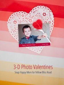 3-D Photo Valentines