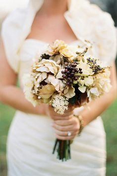 Fall Wedding FlowerBridal Bouquet and Decorations