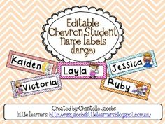 Editable Classroom Name Labels (Large)