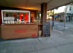 If you can't get enough Equator coffee on campus at Chilly's cafe, be sure to visit the Equator pop-up, downtown Mill Valley